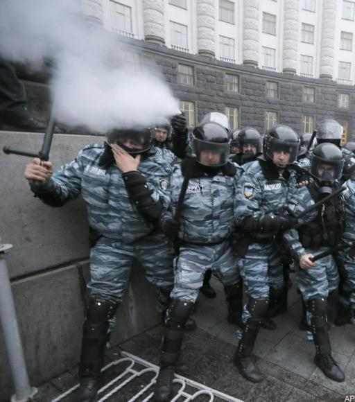 """Today the scandalous order of Zaharchenko comes into force, allowing """"Berkut"""" special units to use force, special means and firearms against citizens."""