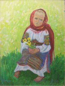 Дівчинка з кульбабами
