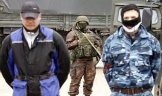 ... 'Putin's tourists' keep standing guard.