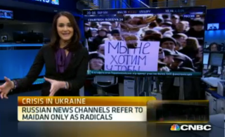 CNBC's Dina Gusovsky provides insight into how Russian media is portraying the crisis in Ukraine, March 3.