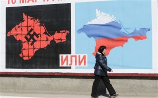Russian tv floods Crimea prior to referendum.