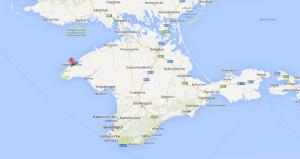 Location of Chornomorske village and base.