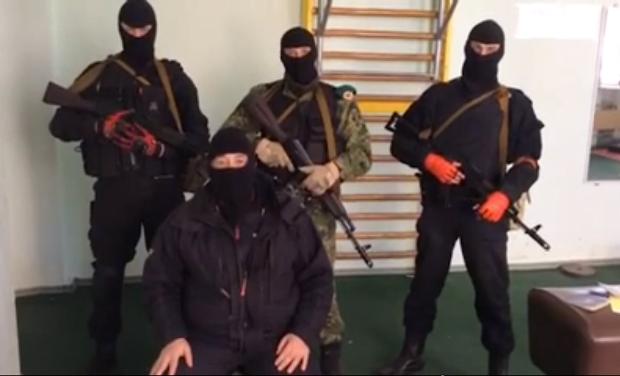 Pro-Russian separatist terrorists in Luhansk