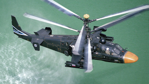 Helicopter Ka-52 arriving to take part in Aviadarts-2014 military exercises. Photo source: http://fr.ria.ru/defense/20140520/201264346.html