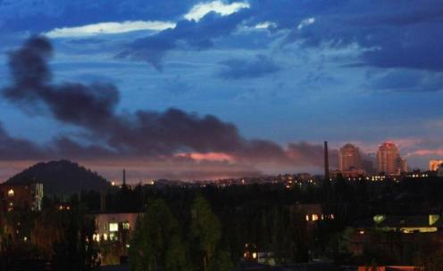 Donetsk sky after the fight