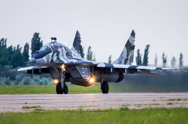 MiG-29 backed up the helicopters