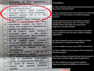 LifeNews interpreted this question of the psych questionnaire as enticing violence against civilians