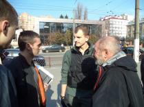 Igor Garkavenko, with Yevhen Karas, the leader of Svoboda's neo-Nazi wing C14