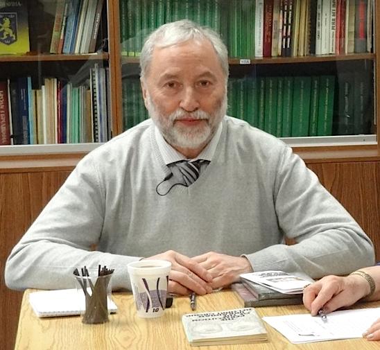 Josef Zissels at UCRDC. Photo: Bozhena Gembatiuk-Fedyna.
