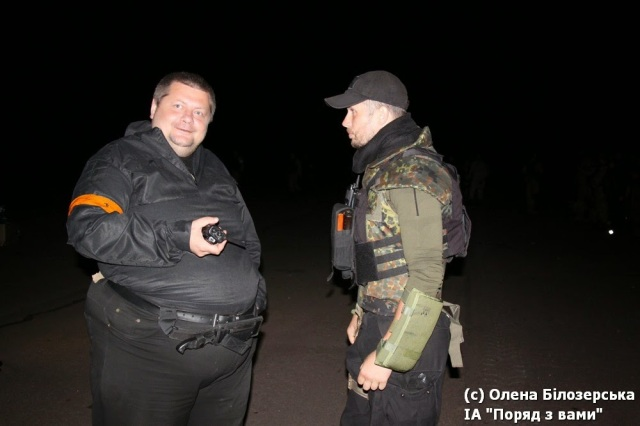 Igor Mosiychuk on left and Andrew Biletsky