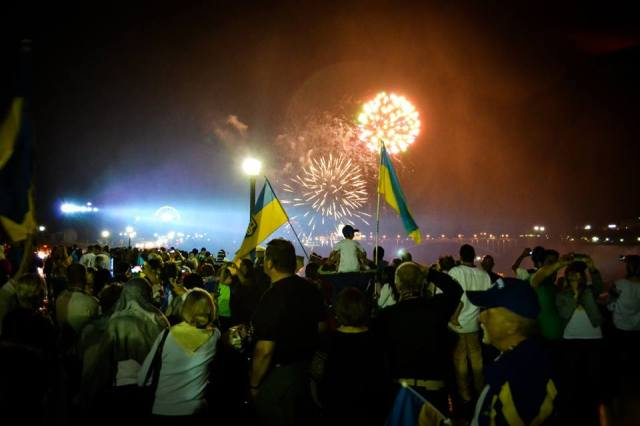 Niagara Falls, Ontario, Canada celebrates Ukrainian Independence Day