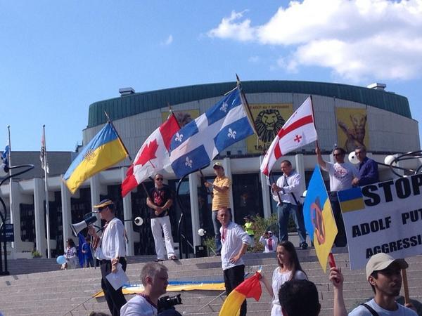 Rally in Montréal, Canada