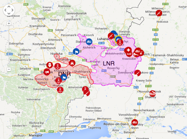 Live interactive map. Source: LiveUAMap