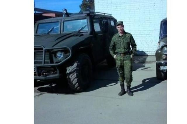 Russian soldier Khoma in Donbas