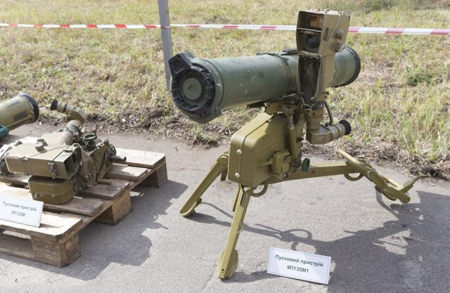 "9K111 Fagot (Russian: 9K111 «Фагот»; English meaning of the word: ""bassoon"") is a SACLOS wire-guided anti-tank missile system of the Soviet Union. ""9M111"" is the GRAU designation of the missile. Its NATO reporting name is AT-4 Spigot."