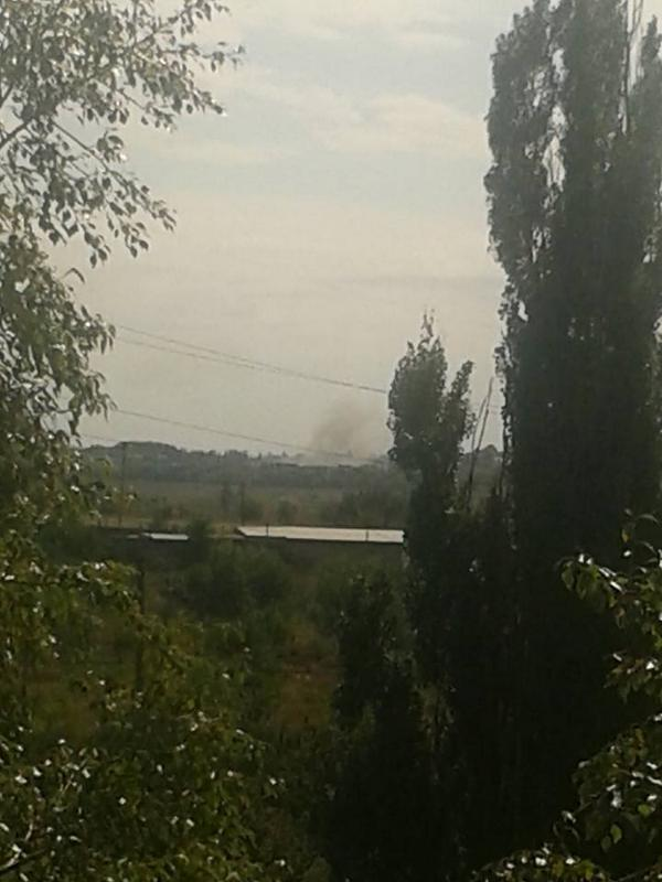 Grad shelling of Donetsk. Photo source.