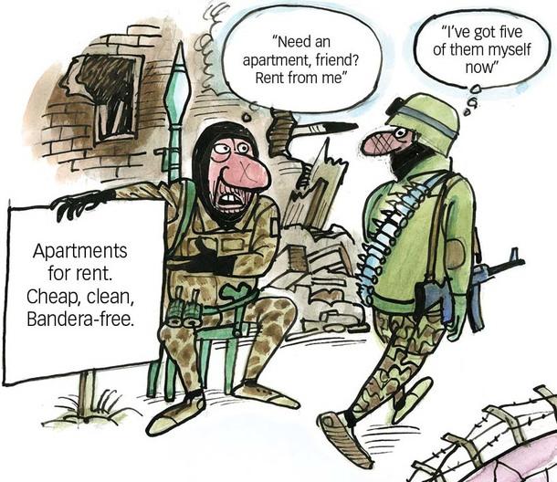 Russian troops and mercenaries in Donbas.