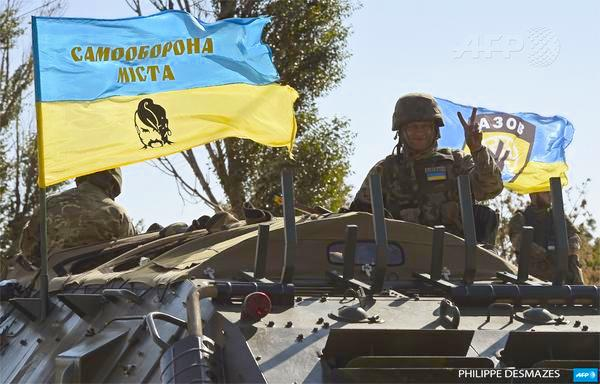 Mariupol volunteers. Photo: AFP