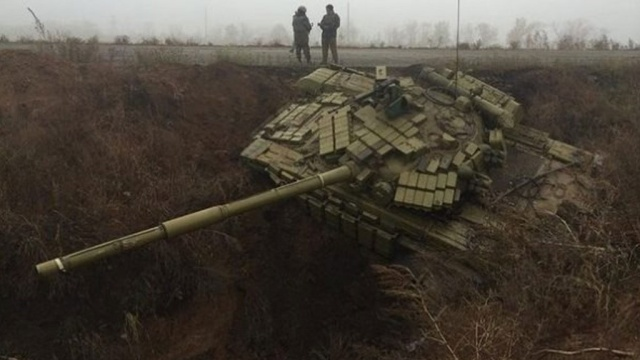 Ukrainian tanks land in the 'anti-Russian moat', laugh bloggers. Photo: vk.com