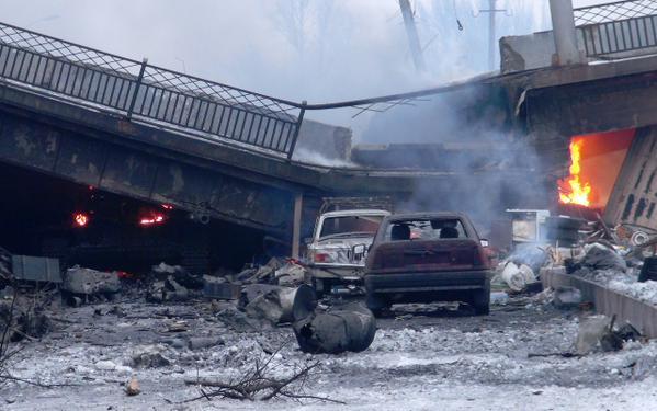 crates under Putilovsky Bridge where a Russian ammunition resupply position was destroyed