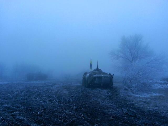 Eery calm of Minsk 2 ceasefire night of Feb. 14th.