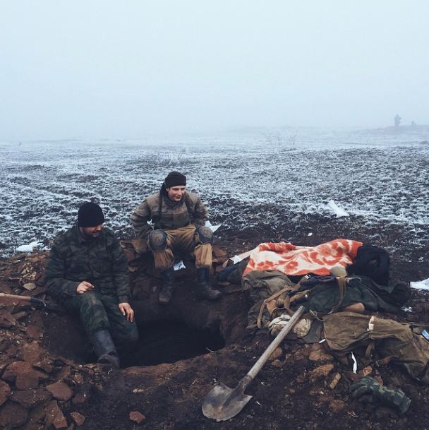 Front-line positions of Russian-terrorist forces less than 2km north from Debaltseve, Feb 16. Photo: Max Avdeev