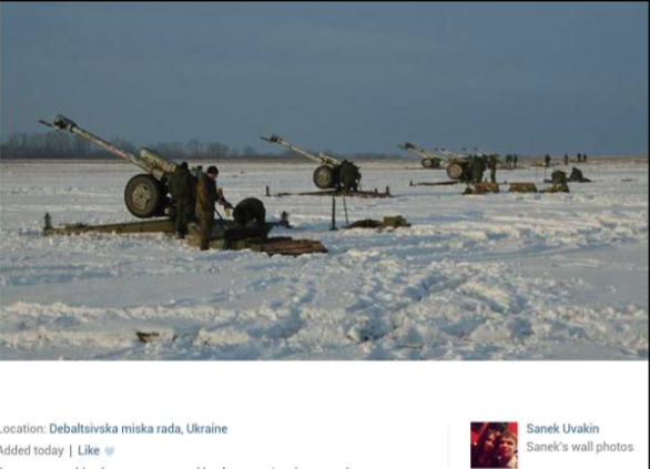 Russian offensive at Debaltseve. Posted by an insurgent from Kazan