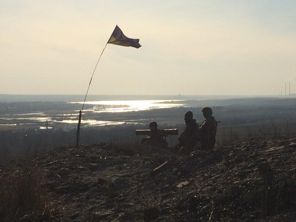 Ukraine troops keep a lookout near Donetsk. SOURCE