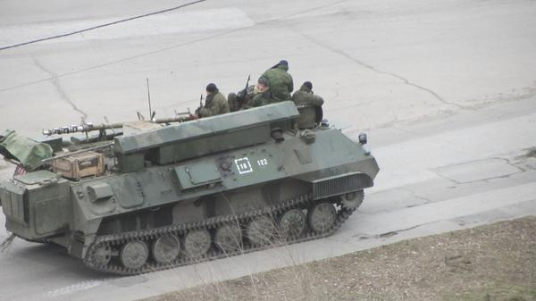 Anti-aircraft battery command vehicle 9S737 Ranzhir in Luhansk. SOURCE