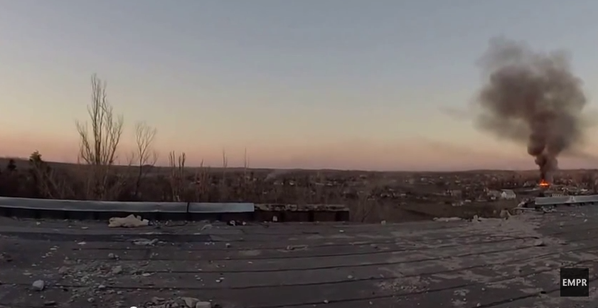 Fighting in Shyrokyne near Mariupol intensifying. Photo source: Twitter