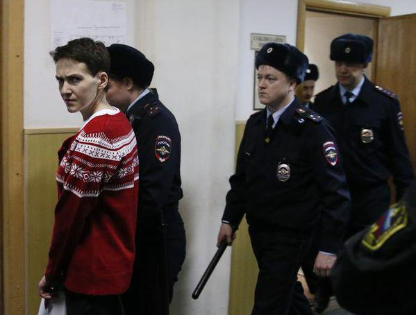 Being taken from Moscow's Basmanny District Court on March 4