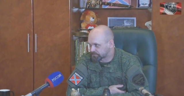 Screen shot of Mozgovoi from the interview posted on March 10, 2015