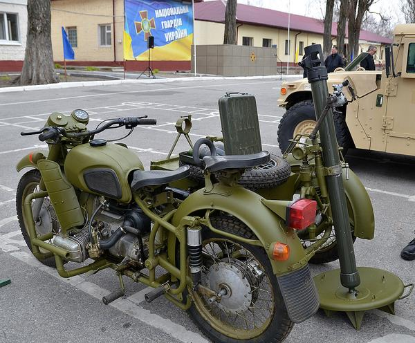 The Ukrainian National Guard's new mobile mortar cycle for diversionary missions. SOURCE