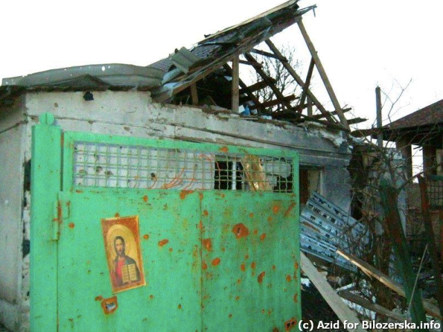 War Veteran's house destroyed in Pisky during Orthodox Easter. SOURCE