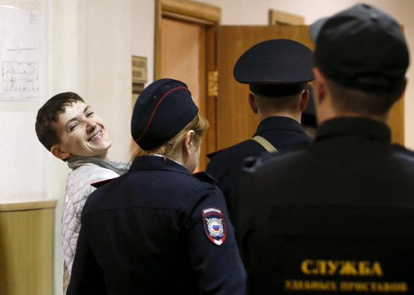 Nadiya Savchenko in court on May 6, 2015