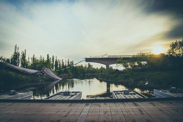 Destroyed bridge in Slovyansk. Photo: Svetlana Dmitrenko