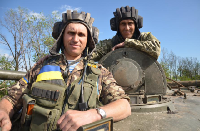 "Heroes: two brothers – noms de guerre ""Honker"" & ""Diesel"" –volunteered to UA Armed Forces to defend homeland. Source."