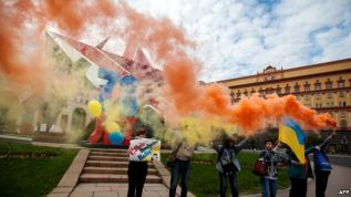 Rally in support of Nadiya Savchenko in Moscow. Photograph by AFP