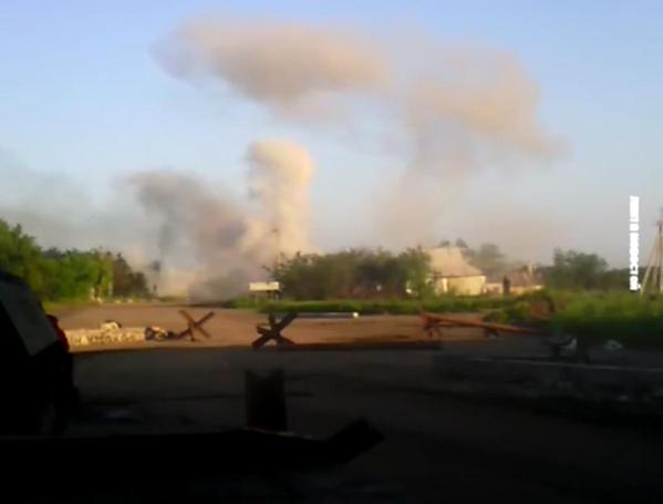 ATO soldiers today videotaped the shelling of Avdiivka with weapons banned by the Minsk Agreement. Russian occupants continue relentlessly shelling Ukrainian villages and towns with mortars and artillery. Source. Video.