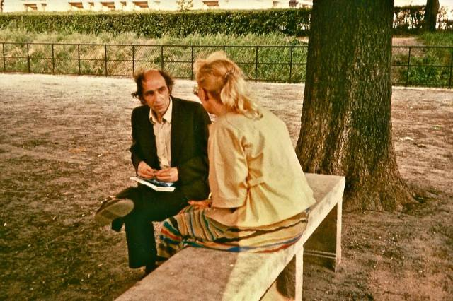 Leonid Plyushch and Christina Isajiw in a park in Nanterre, France.