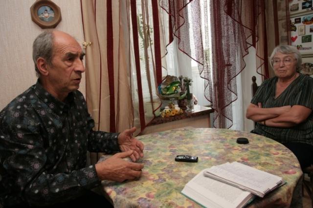 Leonid Plyushch with his wife Tatiana Plyushch in Kyiv, 2007.