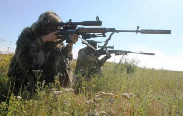 Fort-301, SVD and Barrett M82 used by Ukrainian snipers in ATO zone. Source