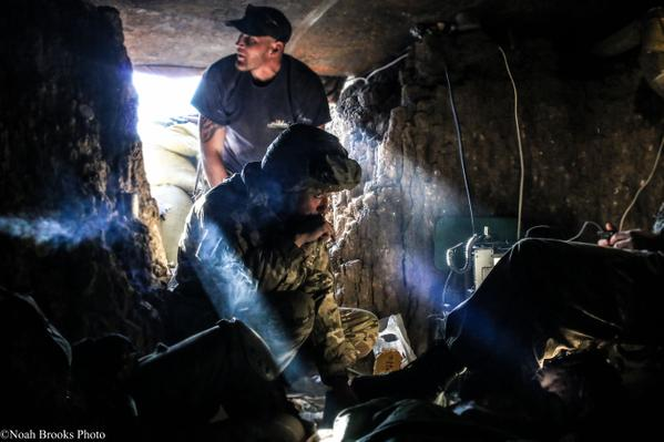 In the trenches of Shyrokyne, east Ukraine. Photo: Noah Brooks. Source