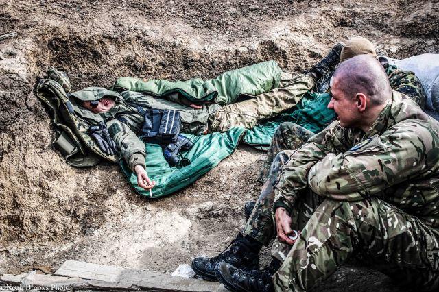 Relaxing in between shootouts. Photo: Noah Brooks