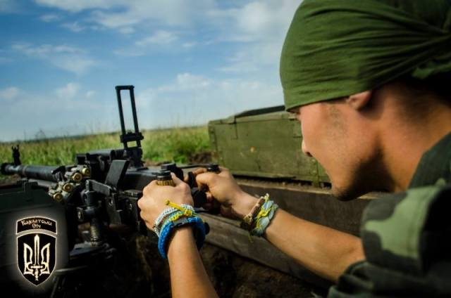 Ukrainian soldier at the firing position. Photo by Karpatska Sich