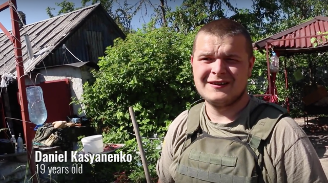 "Still from video: ""This Is What the Ukraine War Looks Like: 8 Days on the Front Line"" (below, in full)."