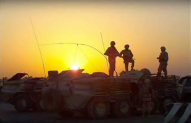 "Still from ""Ukrainian Troops in Iraq"" video."
