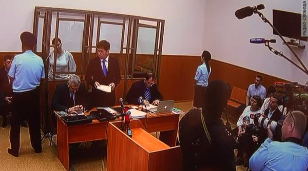 Nadiya Savchenko, lawyers and mother Maria and sister Vira all in court today giving testimony and being witnesses.