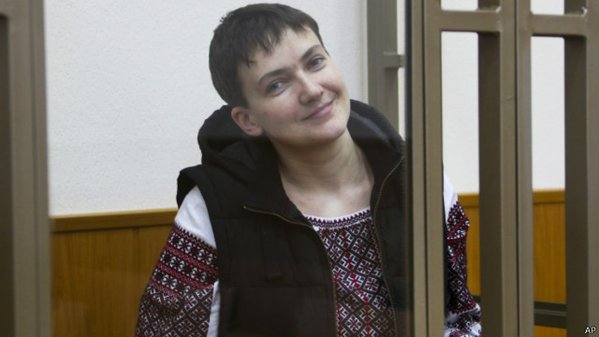 Nadiya Savchenko in court.