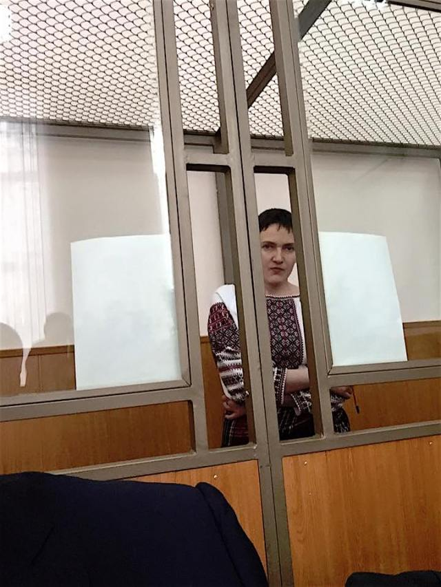 Nadiya in court on March 2, 2016. Photo: Nadiya Savchenko's lawyer Mark Feygin